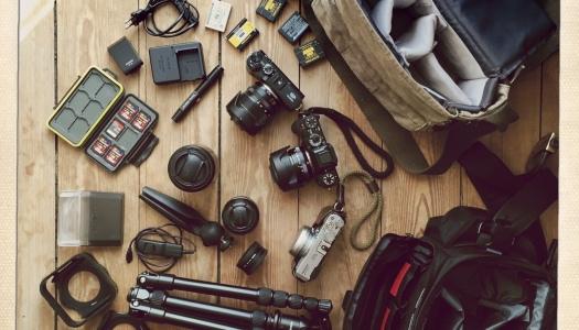 Ich packe meine Reisetasche und nehme mit… das ist meine Fotoausrüstung