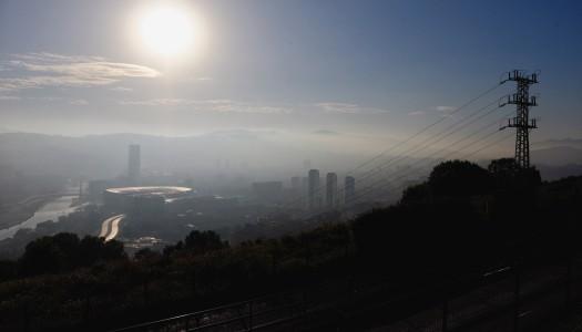 Über den Dächern von Bilbao